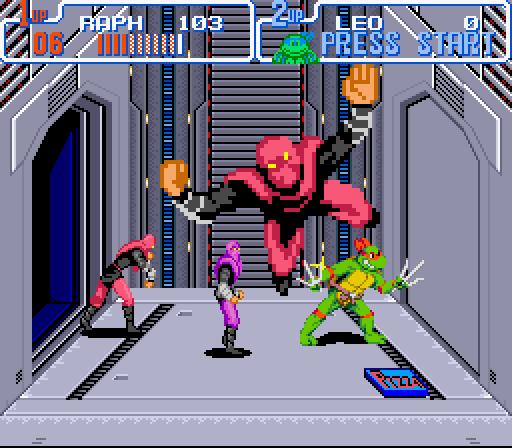 ... aus dem Bildschirm geworfene Foot-Soldaten - das konnte das Super Nintendo!