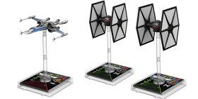 T70-X-Wing und First Order TIE-Fighter