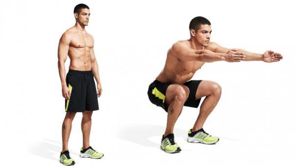 自體訓練, body-weight-squat