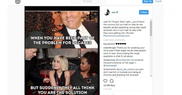 Image result for seal instagram oprah