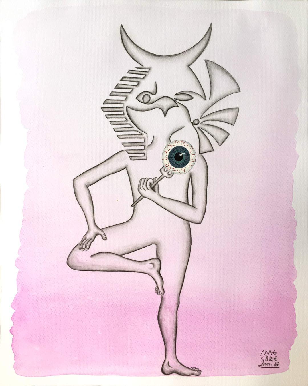 L'oeil d'Horus| 24 cm x 30 cm