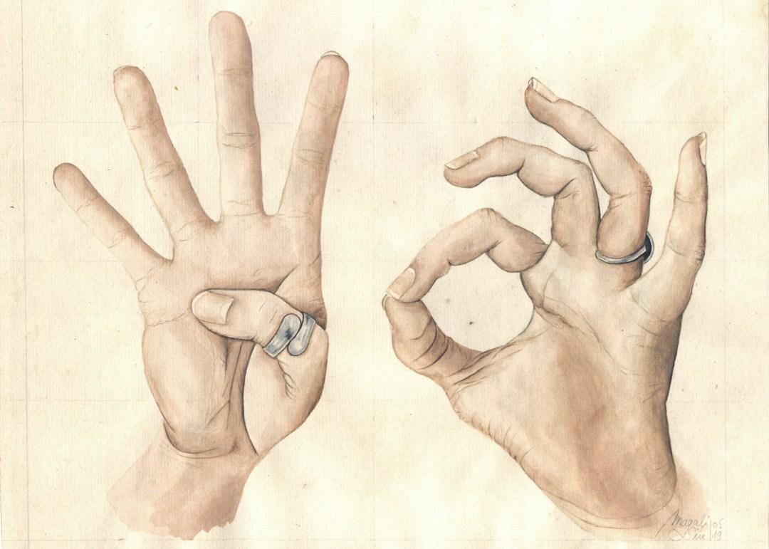 40 avec les mains |22 cm x 27 cm