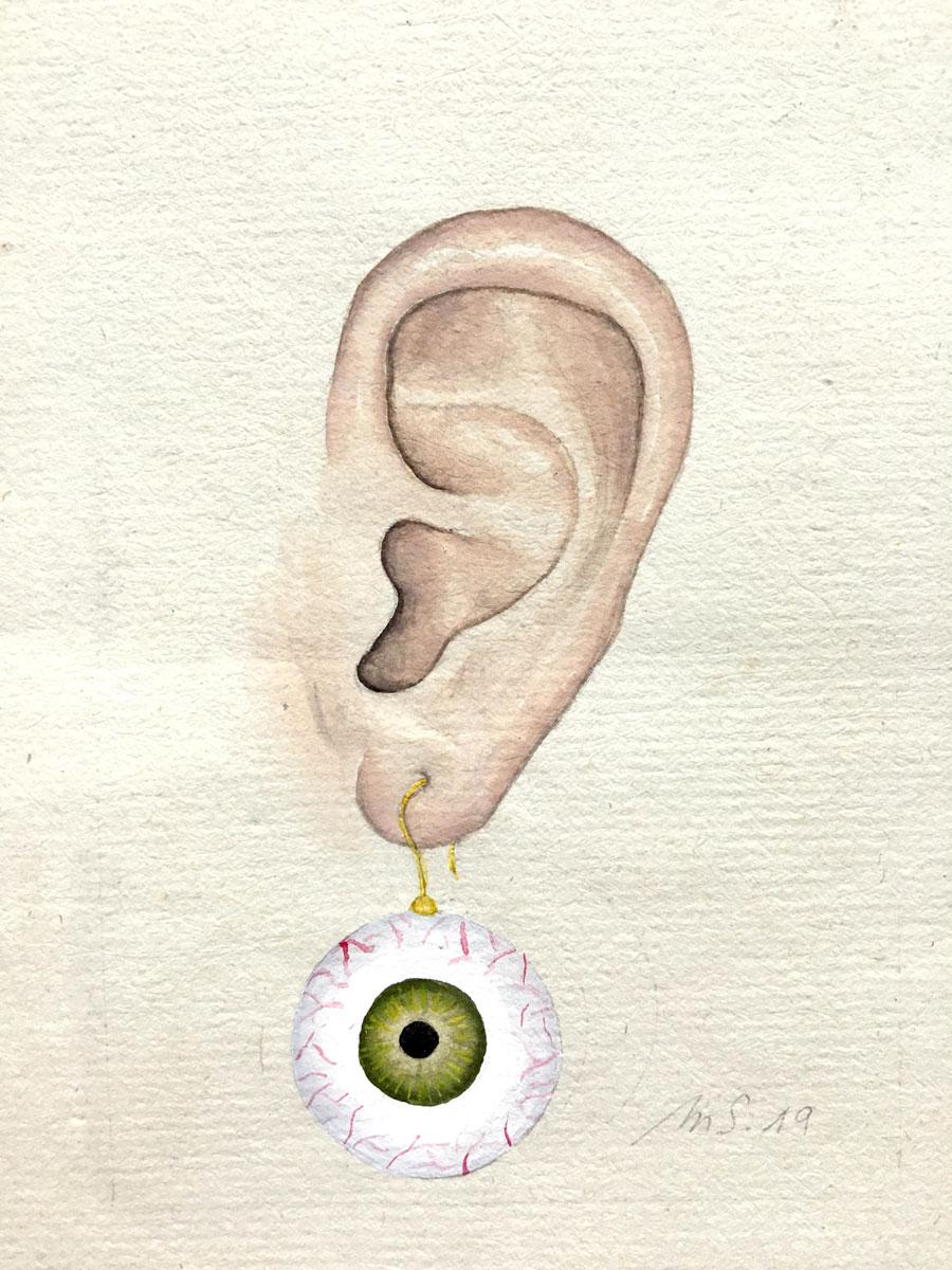 La boucle d'oeil   9 cm x 7 cm