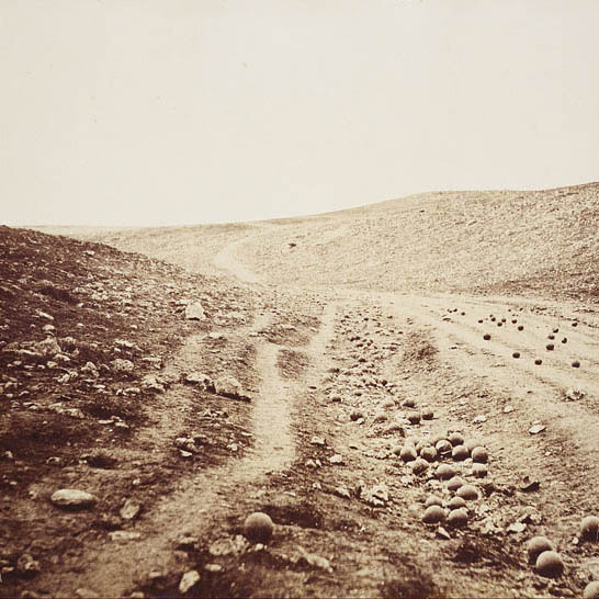 Roger Fenton: The Valley of the Shadow of Death (1856)