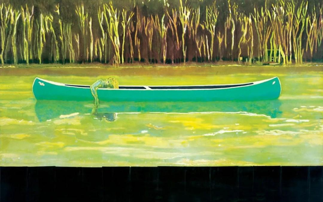 Kunstverket : Canoe-Lake (1997) av Peter Doig
