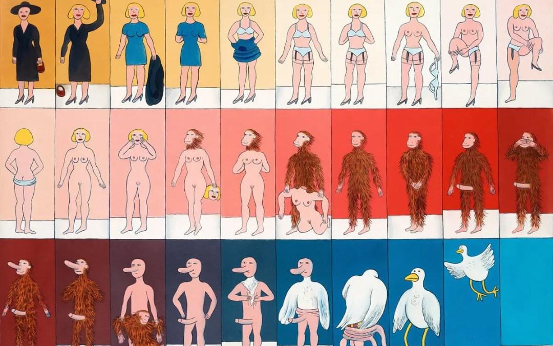 Kunstverket: Striptease av Marie-Louise Ekman