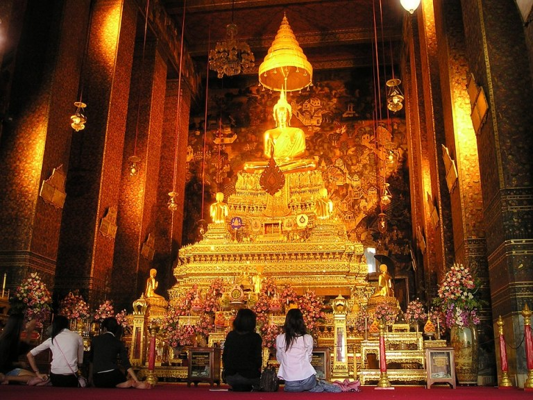 Some money for the golden Buddha please…