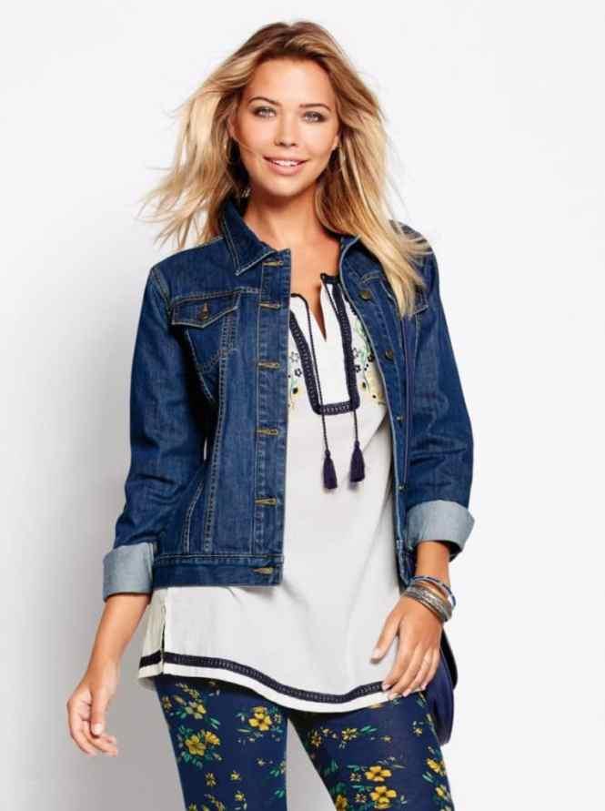 vrstvení oblečení džínové bundy