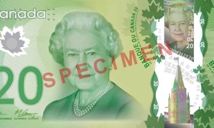 Nová 20 dolarová bankovka Kanady (foto i video)