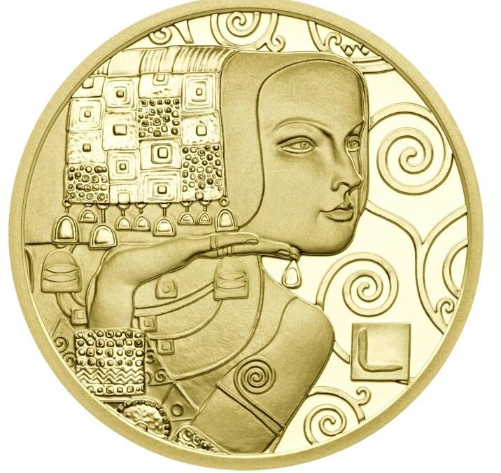 """Rakousko: Nová zlatá € 50,- ze série """"Ženy Gustava Klimta"""""""