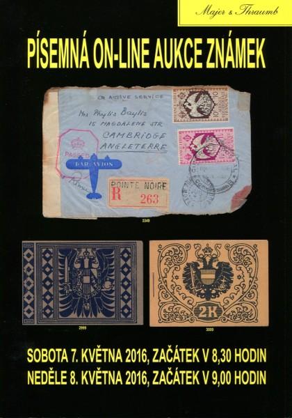 Majer & Thraumb – písemná a on-line aukce (7.-8.5.2016)