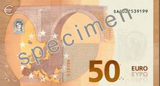 Rub bankovky 50 euro řady Europa