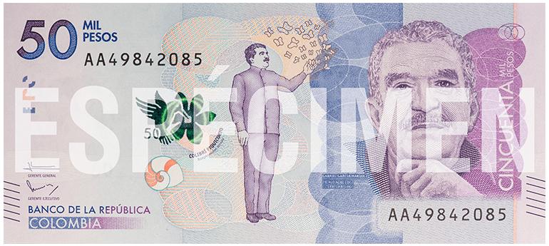 Kolumbijské bankovky: Nová řada z roku 2016