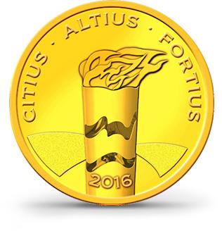 Brazilské olympijské mince – XXXI. Olympijské hry Rio de Janeiro