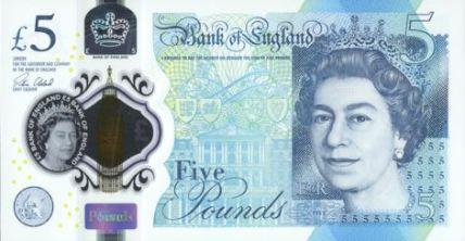 Nové britské bankovky