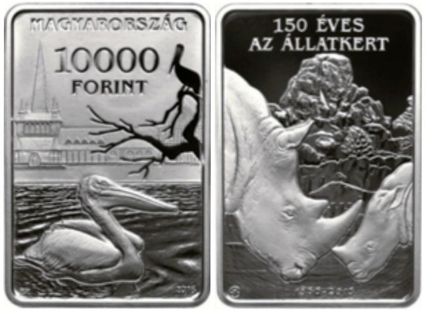 Hranaté maďarské mince