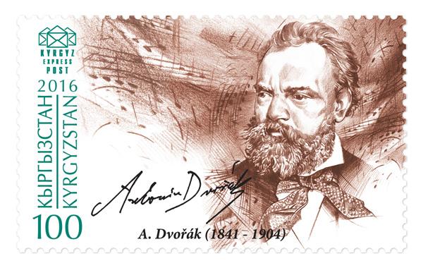 Nové kyrgyzské známky s Antonínem Dvořákem