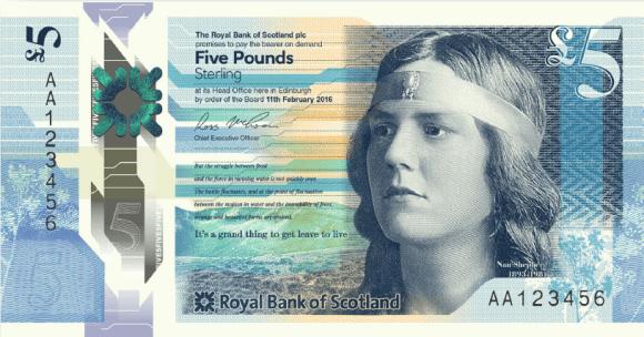 Nové skotské bankovky zobrazují slavné skotské ženy