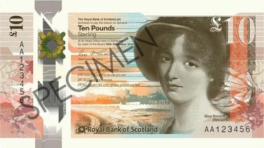 Nové skotské bankovky 10 £ - Skotská královská banka