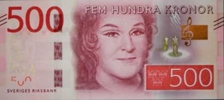 Nové švédské bankovky