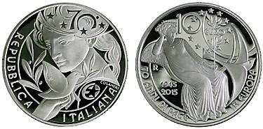 Italská stříbrná mince zvítězila v soutěži Mince roku 2016