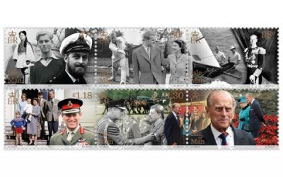 Ostrov Man vydává známky s princem Philipem