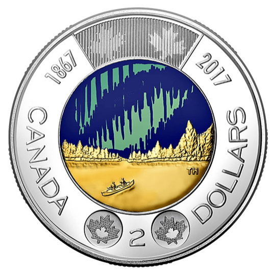 Svítící mince ke 150. výročí založení Kanady