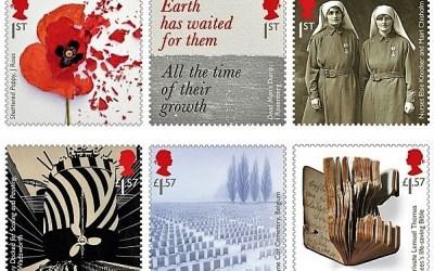 Nové britské známky na motiv první světové války