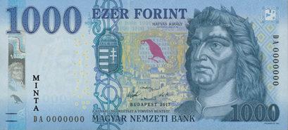 Představení nové maďarské bankovky 1.000 forintů