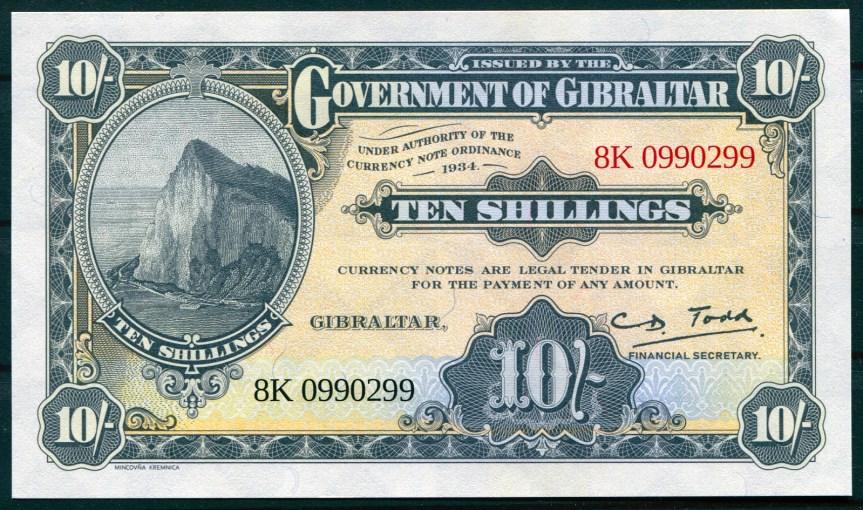 Gibraltar - replika bankovky