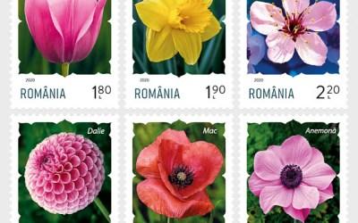Filatelistické novinky 2020: Rumunsko, série květiny