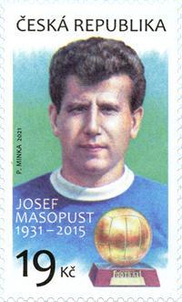 Česká pošta - poštovní známka 19 Kč - Josef masopust - 2021