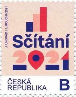 Česká republika - poštovní známka Sčítání lidu 2021