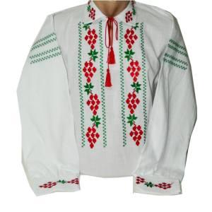 camasa traditionala brodata cu struguri