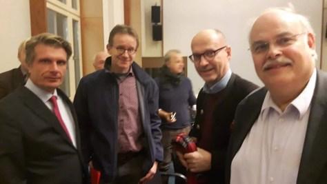 -Staatssekretär Thomas Bareiß mit CTOURisten Thomas Wüpper, Jürgen Osterhage und Wieland Scharf (v. l.)