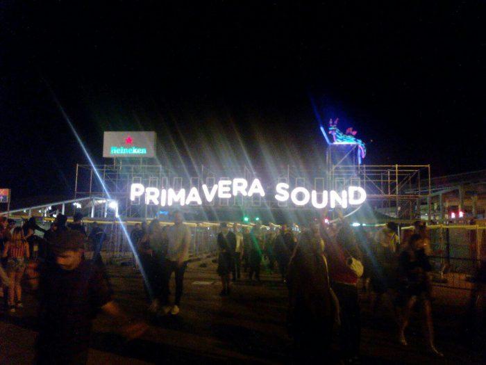 Primavera Sound Festival Schriftzug