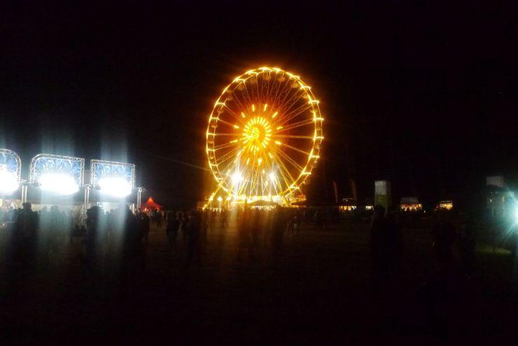 Riesenrad beleuchtet