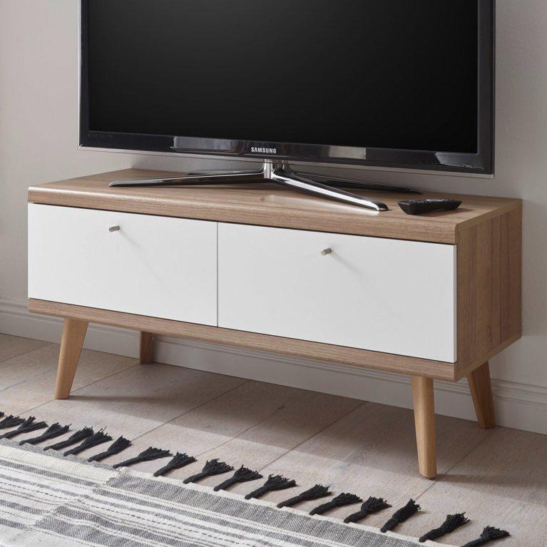 retro-tv-lowboard-mit-2-klappen-mainz-61-weiss-matt-mit-eiche-riviera-nb-b-h-t-ca-107x50x40cm