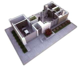 Проект одноэтажного дома с плоской крышей в стиле минимализм