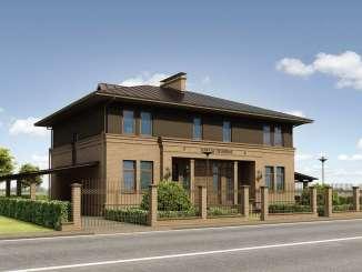 Проект блокированного жилого дома на две семьи