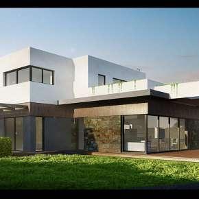 Проект двухэтажного дома с плоской крышей