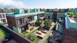 Проект двухэтажного блокированного дома на две семьи