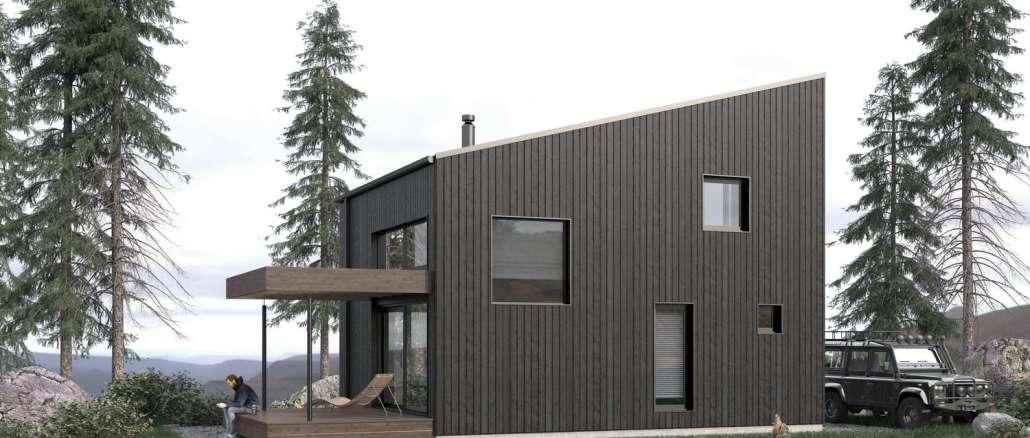 Архитектура дома простая современная идинамичная, без деталей иукрашательств. Благородная отделка сланцем позволит создать крайне современный облик и на долгие годы забыть о возможных проблемах с фасадом.