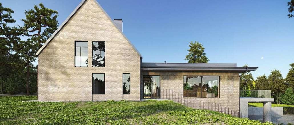 Проект современного кирпичного дома