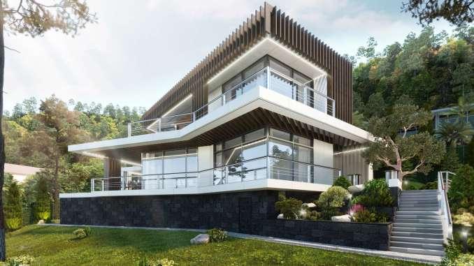 Проект современного загородного дома в Сочи