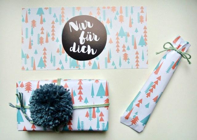 Geschenkpapier zum Ausdrucken!