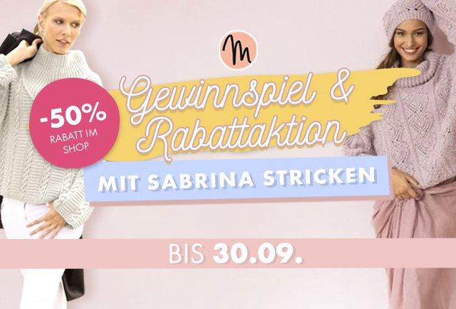 Sabrina: Strickzeitschrift-Gewinnspiel und Rabattaktion