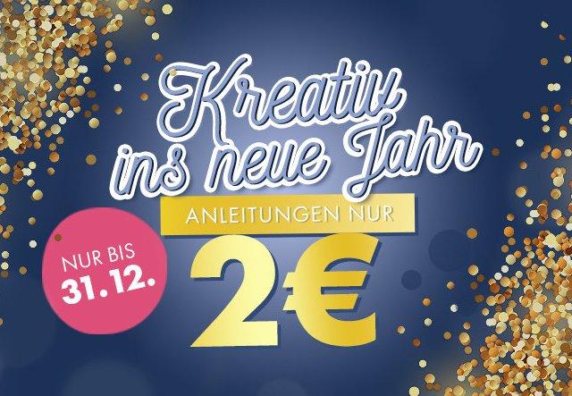 Anleitungen für nur 2€: Kreativ ins neue Jahr