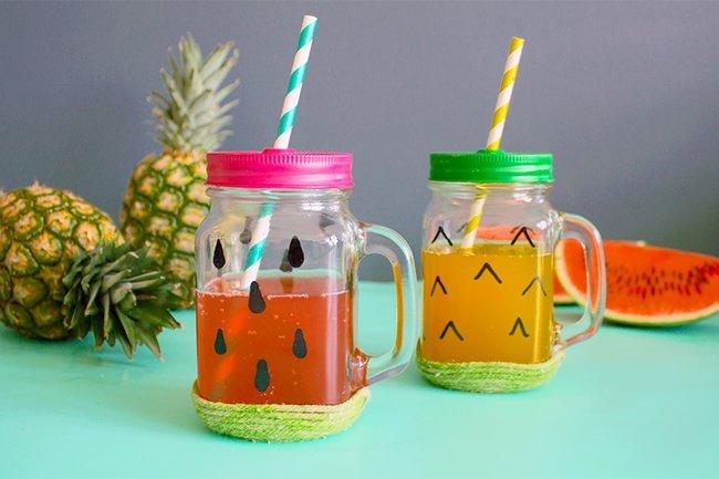 Makerist-Basteln-mit-Kindern-50-DIY-Projekte-Fruchtige-Trinkgläser