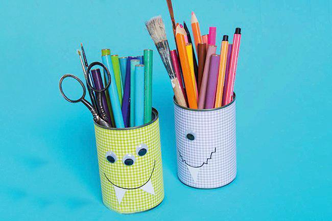 Makerist-Basteln-mit-Kindern-50-DIY-Projekte-Stifte-Dose-aus-Konserven-1